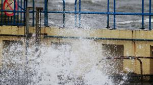 Storm Desmond brought high winds and choppy waters to Galway