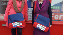 Mairia Cahill campaigning for Labour candidate Anne Ferris