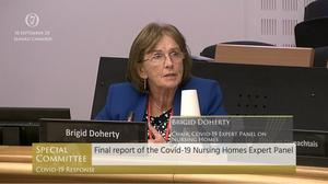 Brigid Doherty, a member of the expert panel on nursing homes, said the lack of information about residents' deaths has been frustrating for families (Oireachtas TV/PA)