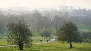 What would normally be bustling park pathways were nearly empty (John Walton/PA)