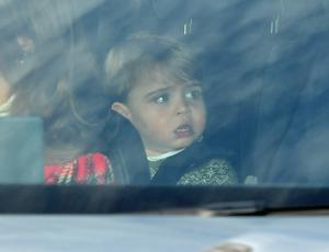 Prince Louis arriving for the Queen's Christmas lunch (Dominic Lipinski/PA)