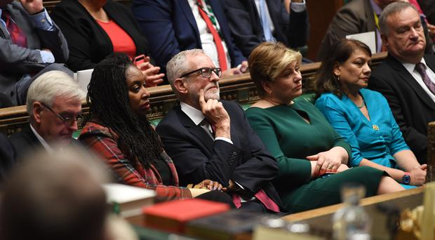 Jeremy Corbyn during the swearing in of Parliament (UK Parliament/Jessica Taylor/PA)