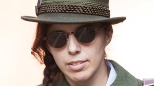 Alleged neo-Nazi, Claudia Patatas, 38, from Banbury, leaves Birmingham Crown Court (Aaron Chown/PA)