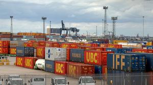 The value of exports fell by £400 million to £23.5 billion