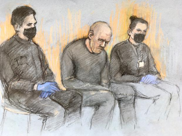 Couzens appeared in the dock at Westminster Magistrates' Court, apparently with a small wound on his forehead (Elizabeth Cook/PA)