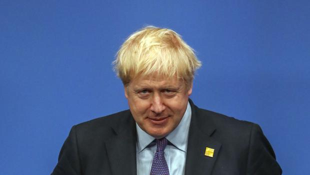 Prime Minister Boris Johnson during the annual Nato heads of government summit at The Grove hotel in Watford, Hertfordshire.