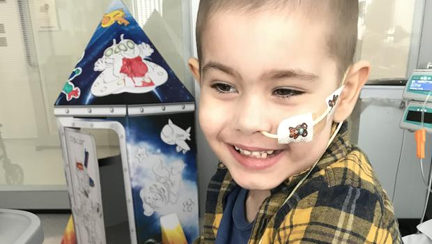 Oscar Saxelby-Lee flew to Singapore for treatment (Family handout/PA)