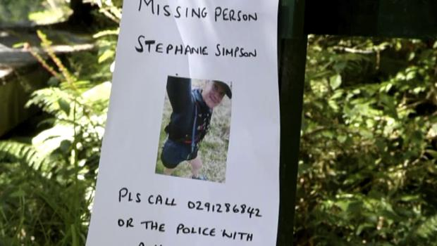 A poster in the search for British hiker Stephanie Simpson at Mount Aspiring National Park (Newshub via AP)