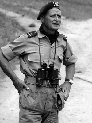 Mike Hoare in the Congo in 1964/65 (Jean Kestergat/PA)