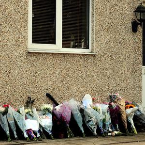 Tributes were left outside Hannah Smith's home in Lutterworth, Leicestershire