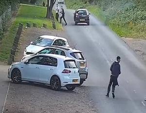 A Vauxhall Astra which stopped nearby is thought to be connected to the Renault. (West Midlands Police/PA)