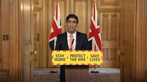 Chancellor Rishi Sunak makes the charity announcement (PA)