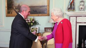 The Queen receives Professor Mark Compton, Lord Prior of the Order of St John, during an audience (Yui Mok/PA)