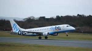 A file image of a FlyBe flight at Manchester Airport (Pete Byrne/PA)