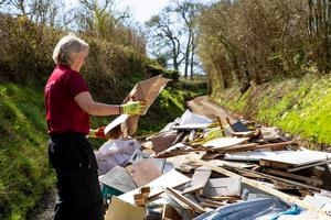Fly-tipping has increased by 300% ((Winchester City Council/PA)