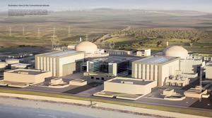 Artist's impression issued by EDF of plans for the new Hinkley Point C nuclear power station (EDF/PA)