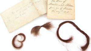 Locks of Lord Nelson's hair will be sold at auction at Keys Auctioneers and Valuers in Aylsham, Norfolk (Newman Associates PR/PA)