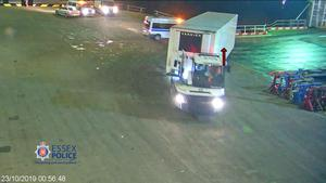 CCTV footage of the trailer being taken off the ship at Purfleet (Essex Police/PA)