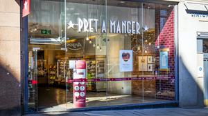 At least 1,000 jobs are thought to be at risk after sandwich and coffee chain Pret a Manger revealed plans to permanently shut 30 of its stores after footfall was hammered by the coronavirus lockdown (Jane Barlow/PA)
