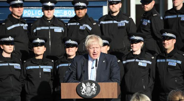Prime Minister Boris Johnson making a speech during a visit to West Yorkshire (Danny Lawson/PA)