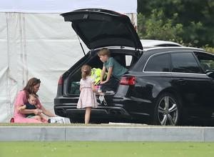 Kate and her children at the polo (Andrew Matthews/PA)