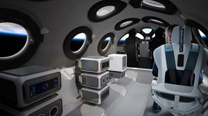 """The cabin will include automated mood lighting and reclining seats with """"G-Force management"""" (Virgin Galactic/PA)"""