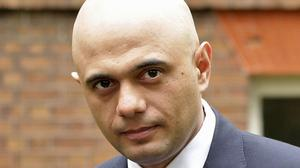 Culture Secretary Sajid Javid topped a power list of the most influential Asians in the UK