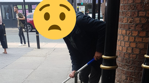 BTP shared a photo of the man with an emoji to protect his identity (British Transport Police Three Counties/PA)