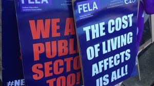 It is the third time EIS-FELA members have gone on strike this year (Tom Eden/PA)