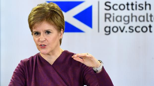 Scotland's First Minister Nicola Sturgeon (Andy Buchanan/PA)