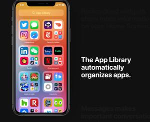 The new App Library in iOS 14. (Apple)