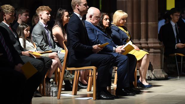 The Duke of Cambridge attends the Manchester Arena National Service of Commemoration (Paul Ellis/PA)