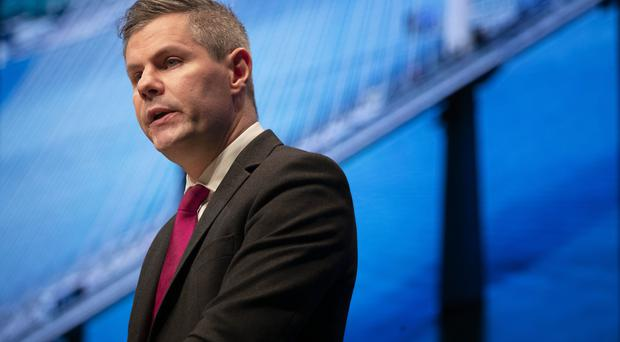 Finance Secretary Derek Mackay accused Westminster of 'disrespecting devolution' by not holding the Budget till March 11 (Jane Barlow/PA)