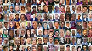 A composite image showing some of the NHS and care workers who have died during the coronavirus pandemic (PA)