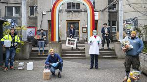 Residents of the Edinburgh Summerhall community of small businesses and creatives (Jane Barlow/PA)