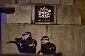 Armed police are on the scene on London Bridge after an incident (Dominic Lipinski/PA)