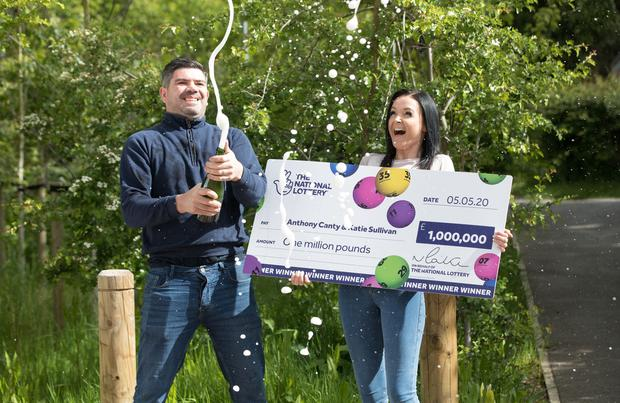 Anthony Canty is the 100th high-tier National Lottery winner to be paid out since lockdown started (National Lottery/PA)