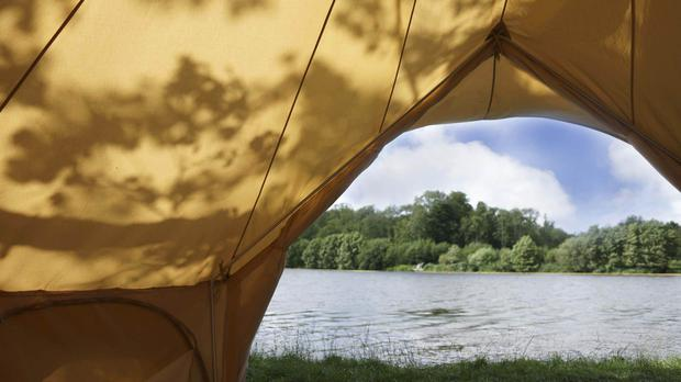 Covid travel restrictions have led to a surge in demand for staycations, with pop-up campsites springing up all around the country (Marston Park/PA)