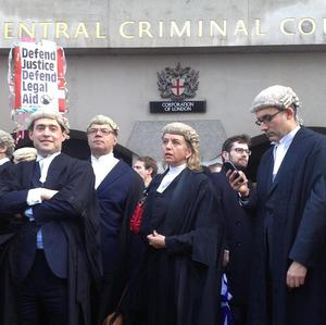 Barristers around the country have previously staged a walk-out over legal aid cuts.