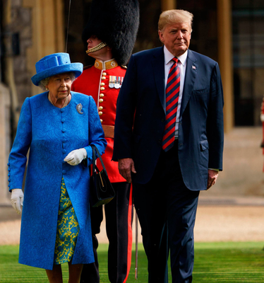 Trip: Trump with the Queen