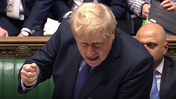 Boris Johnson during Prime Minister's Questions (House of Commons/PA)