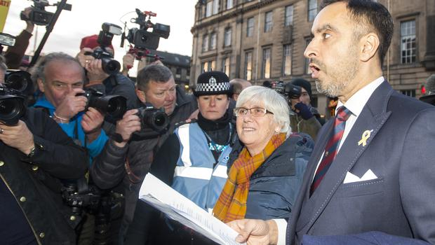 Ms Ponsati's lawyer Aamer Anwar, right, said she has faith in the Scottish justice system (Lesley Martin/PA)