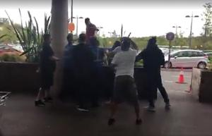 A brawl that erupted at a shopping centre after a vigilante group of 'paedophile hunters' confronted a man (The Hunted One/PA)
