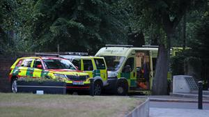 Emergency services at Forbury Gardens in Reading town centre (Steve Parsons/PA)