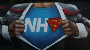 Street art in appreciation of the NHS in Hilly Fields Park, Lewisham (Jonathan Brady/PA Wire)