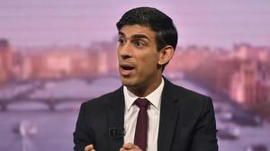 Rishi Sunak appeared on The Andrew Marr Show on Sunday (Jeff Overs/BBC/PA)