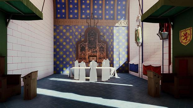 Researchers used virtual reality to recreate how the chapel would have looked and sounded (James Cook/University of Edinburgh/PA)
