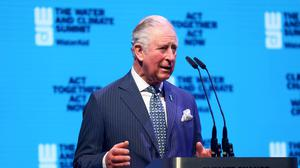 The Prince of Wales addresses the WaterAid charity's Water And Climate event in London (PA)