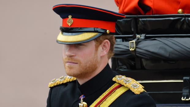 Prince Harry during Trooping the Colour (Dominic Lipinski/PA)