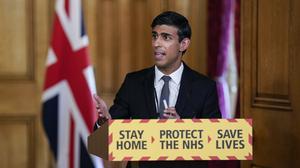 Chancellor Rishi Sunak speaking during a media briefing in Downing Street (Downing Street/PA)